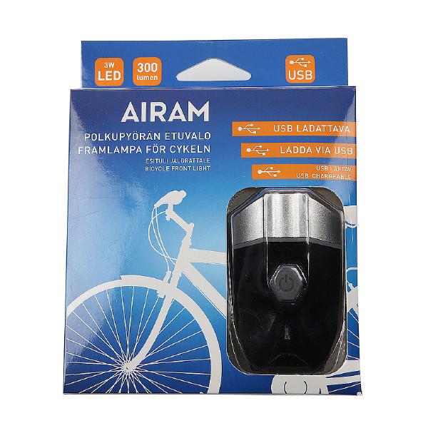 Cykellampa Airam 3W, 300 lm