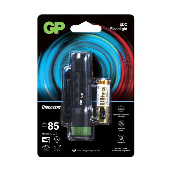 Ficklampa GP Discovery C31, 85 lm