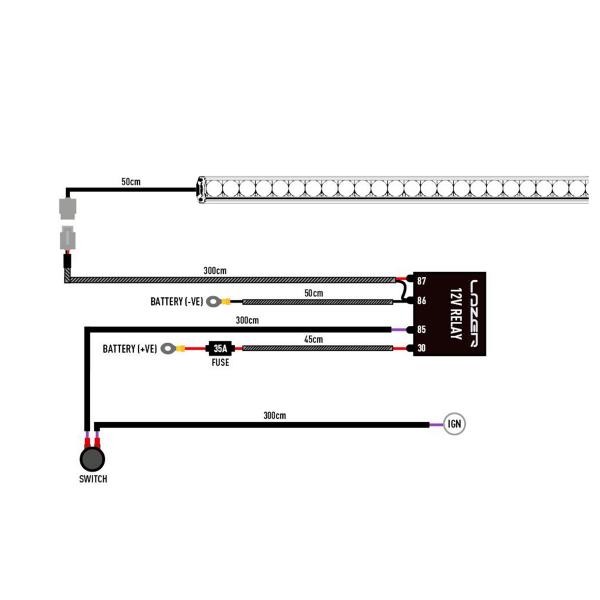 Relejohtosarja Lazer Triple-R / T Evolution, 12V