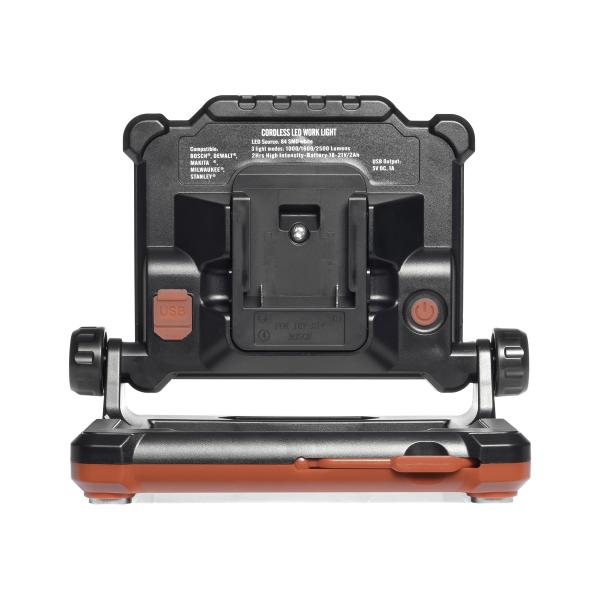 Arbetsbelysning Masterlux 840, för skruvdragar-batteri, 2500 lm
