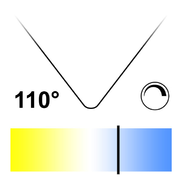 GU10 LED-lampa, Naturlight, 6W, Dagsljus, Bred, Dimbar