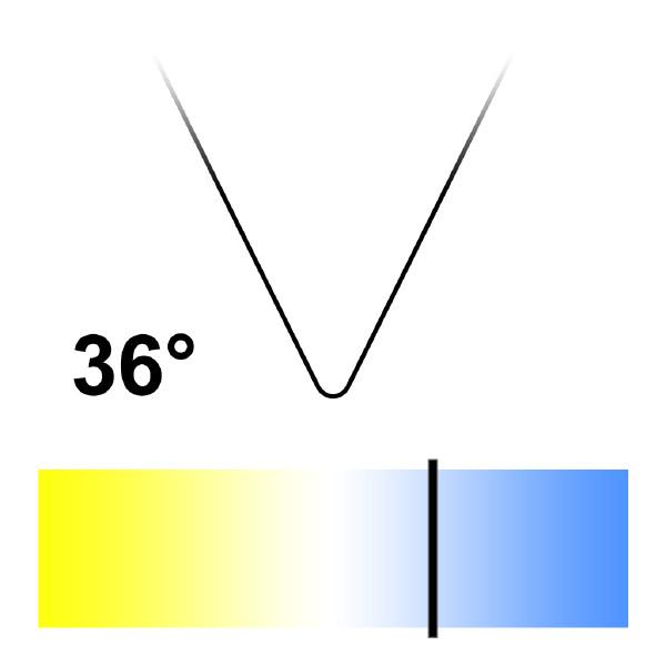 GU10 LED-lampa, Naturlight, 6W, Kallvit, Smal