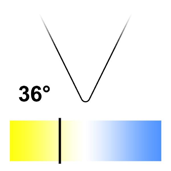 GU10 LED-lampa, Naturlight, 6W, Varmvit, Smal