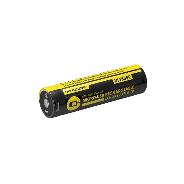 18650-batteri Nitecore, Micro-USB-laddbart, 3500 mAh