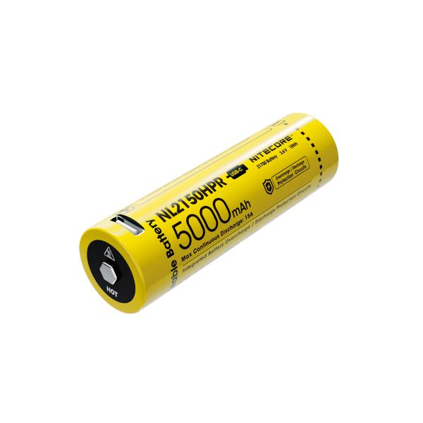 21700-batteri Nitecore, USB-C-laddbart, 5000 mAh