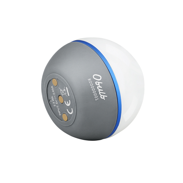 LED-lyhty Olight Obulb Basalt Grey, 55 lm