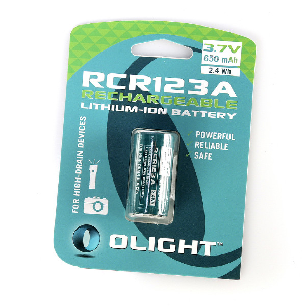 RCR123A Li-ion batteri Olight, 650 mAh