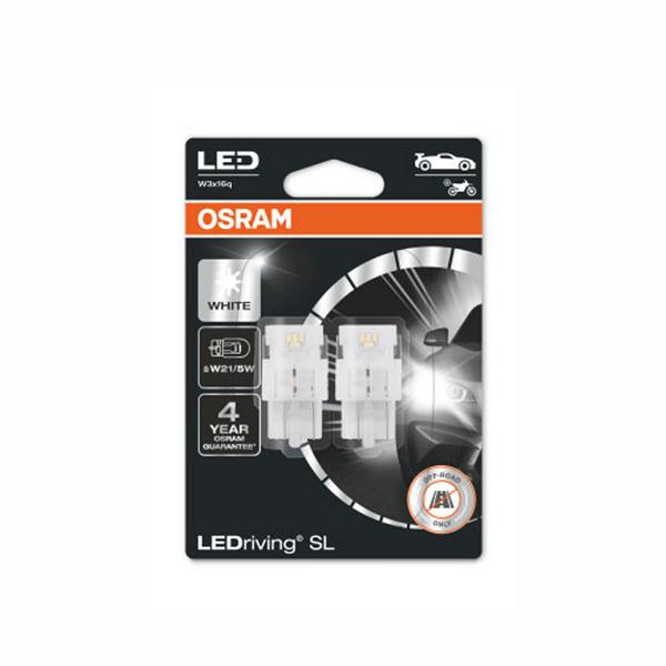 LED-poltinpari Osram LedDriving SL, 6000K, T20 (W21/5W)