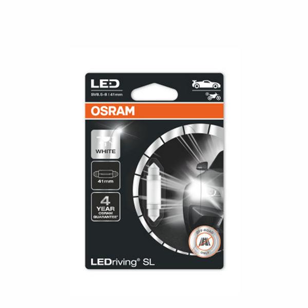 Putkipoltin Osram LedDriving SL, 6000K, 41 mm