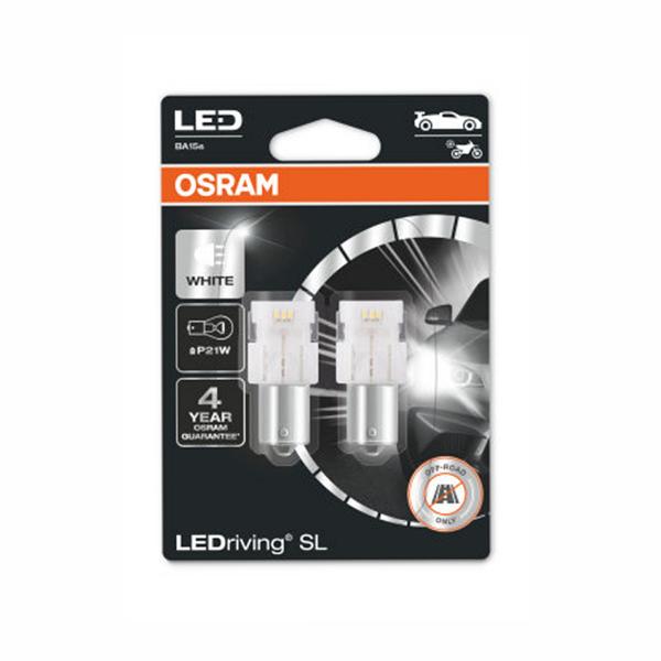 LED-poltinpari Osram LedDriving SL, 6000K, BA15s (P21W)