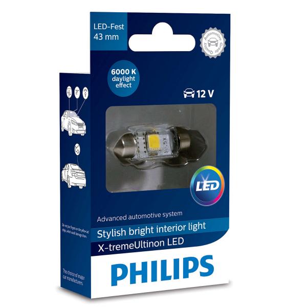 LED-putkipoltin PHILIPS 43 mm, X-tremeUltinon +200%