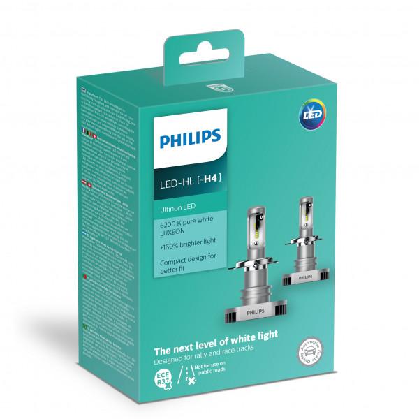 LED-ajovalopolttimot PHILIPS LED Ultinon +160%, H4