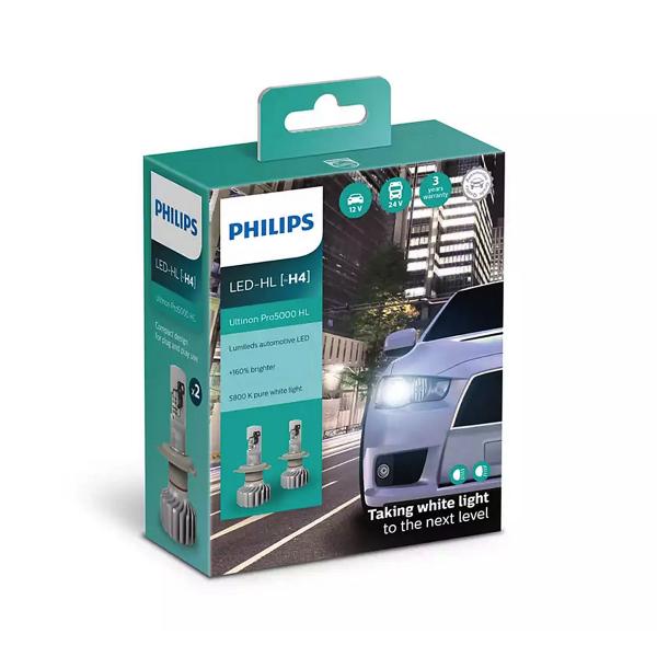 LED-ajovalopolttimot PHILIPS Ultinon Pro5000 HL +160%, H4