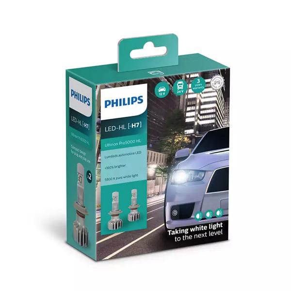 LED-ajovalopolttimot PHILIPS Ultinon Pro5000 HL +160%, H7