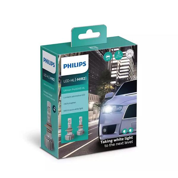 LED-ajovalopolttimot PHILIPS Ultinon Pro5000 HL +160%, HIR2
