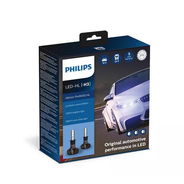 LED-ajovalopolttimot PHILIPS Ultinon Pro9000 HL +250%, H3