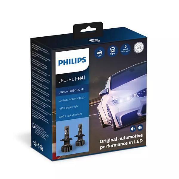 LED-ajovalopolttimot PHILIPS Ultinon Pro9000 HL +250%, H4