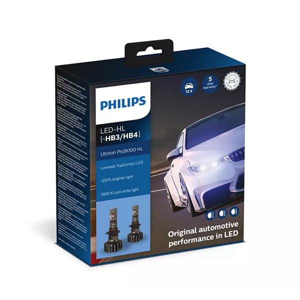 LED-ajovalopolttimot PHILIPS Ultinon Pro9000 HL +250%, HB3/HB4