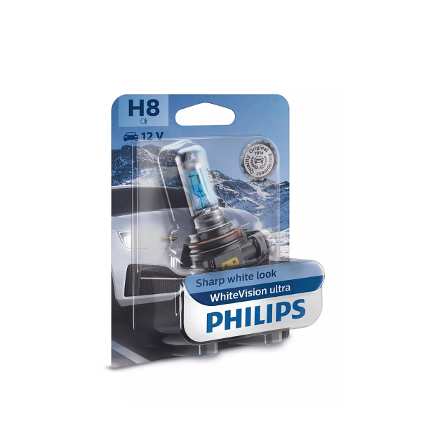 Halogeenipolttimo PHILIPS WhiteVision ultra, 35W, H8, 2 kpl