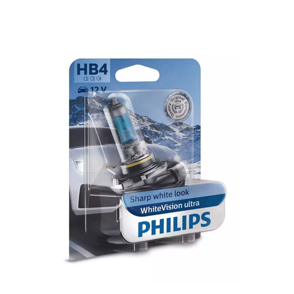 Halogeenipolttimo PHILIPS WhiteVision ultra, 51W, HB4, 2 kpl