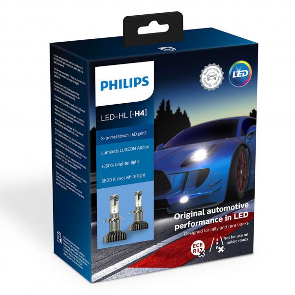 LED-pære Philips X-TremeUltinon gen2 +250%, H4
