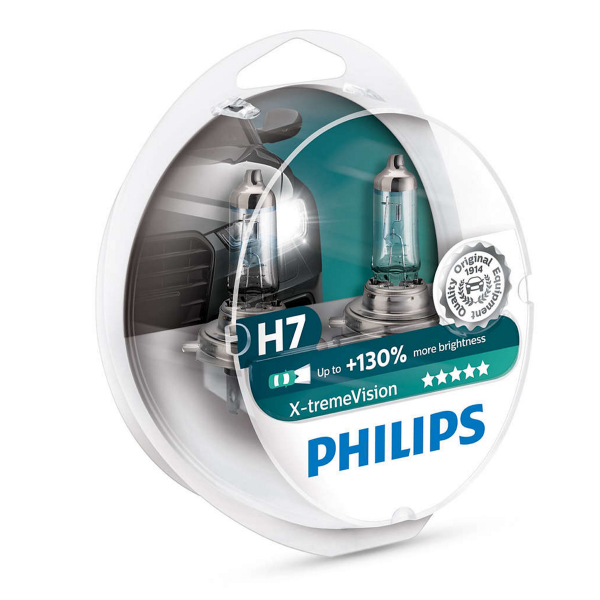 Halogeenipolttimo PHILIPS X-TremeVision +130%, 55W, H7