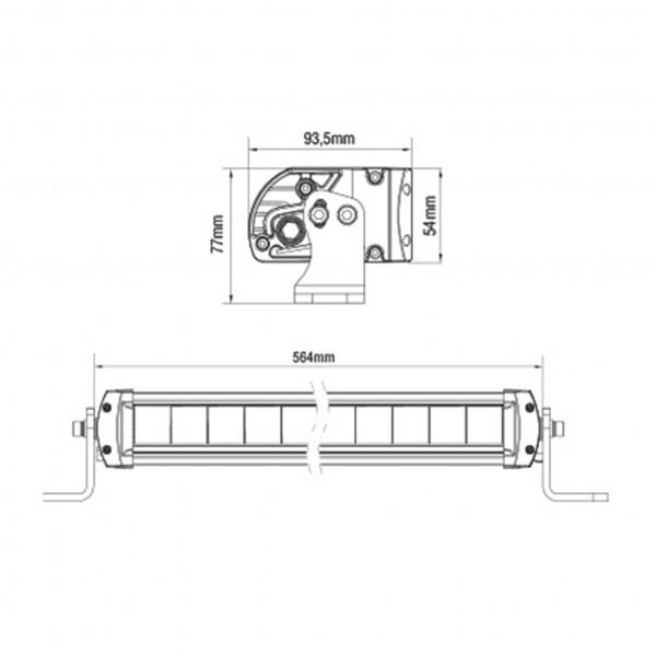 Lisävalo SAE Seeker Venom - Suora / 55 cm / 100W / Ref. 45