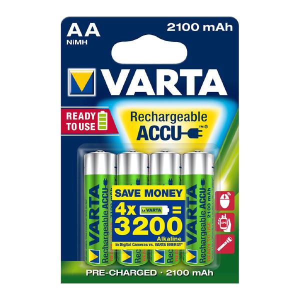 Laddbart AA-batteri VARTA Accu, 2100 mAh, 4 st