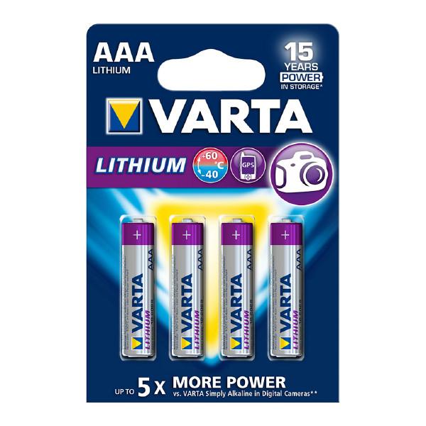AAA-paristo VARTA Lithium, 4 kpl