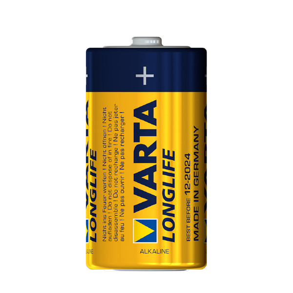 C-batteri VARTA Long Life, 2 st