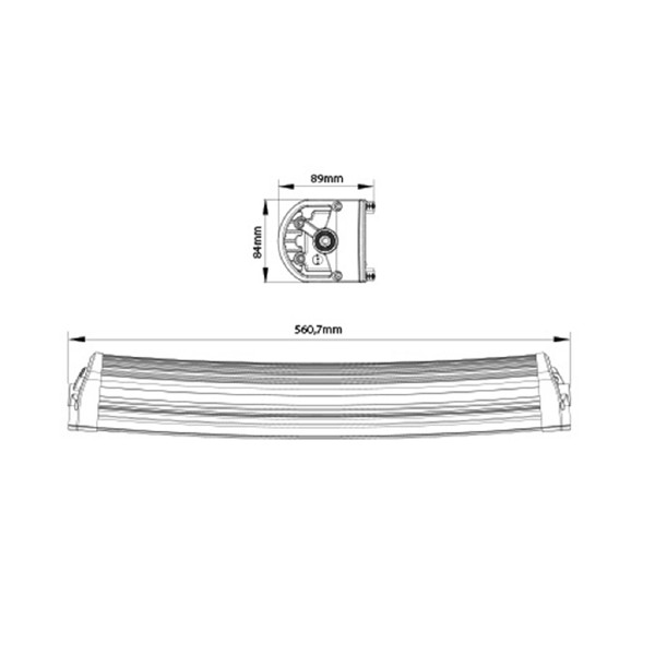 Lisävalo X-Vision Genesis 600 - Kaareva / 56 cm / 120W / Ref. 30