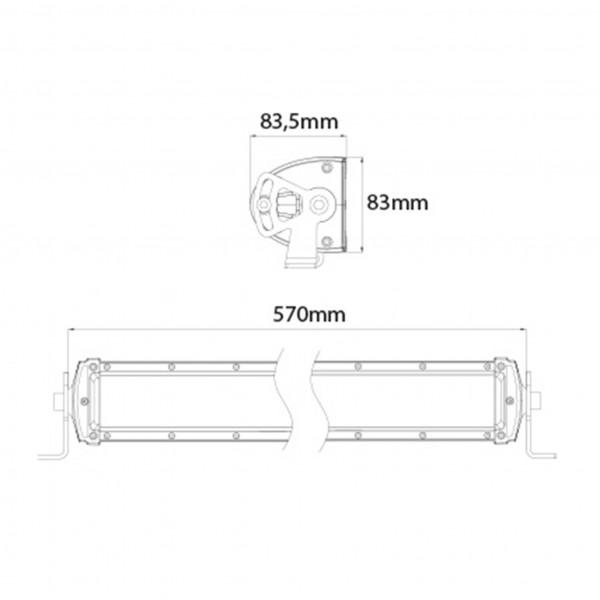 Lisävalo X-Vision Domibar - Suora / 57 cm / 120W / Ref. 37.5