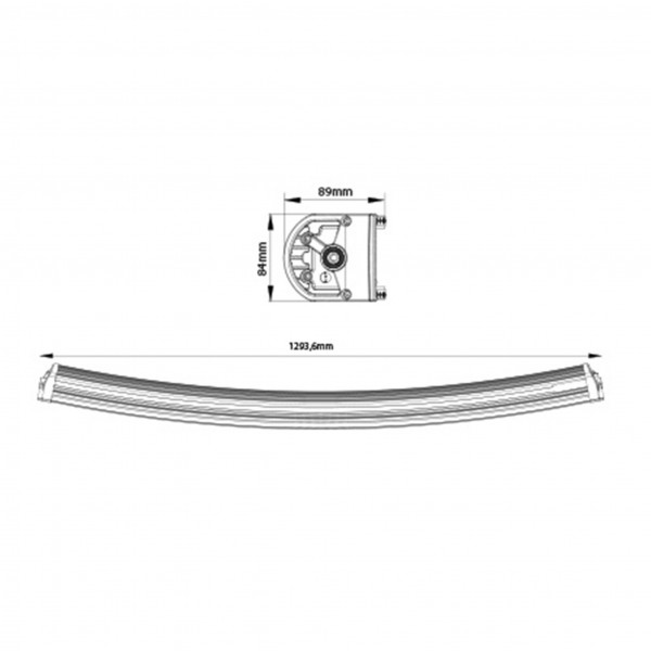 Lisävalo X-Vision Genesis 1300 - Kaareva / 130 cm / 300W / Ref. 45
