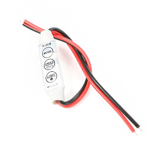 Kontrollenhet LED-strips 12-24V, 9A, uten kontakter