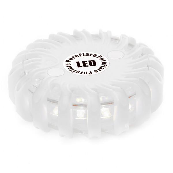 Laddbar LED-ljuspuck Pureflare, 16 LED, Vit