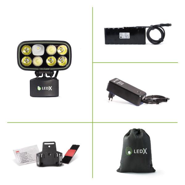 LEDX Hjälmlampa Cobra 6500 X-pand (batteridriven)