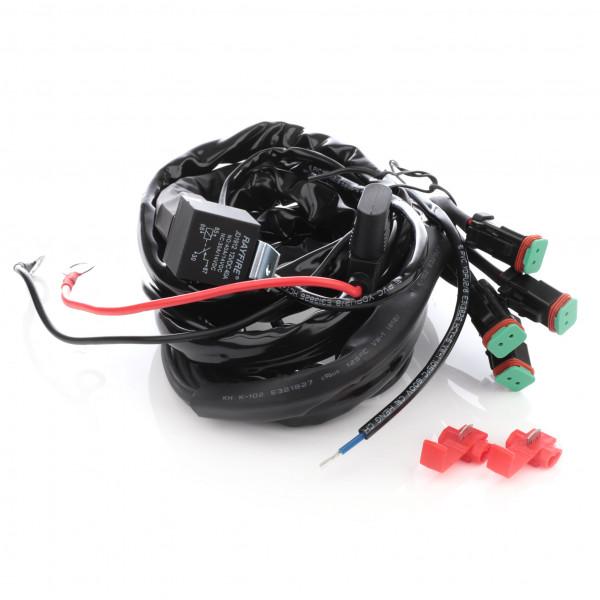Reläkabelsats 12V Purelux Extraljus DT-kontakt (för 3-4 st lampor)