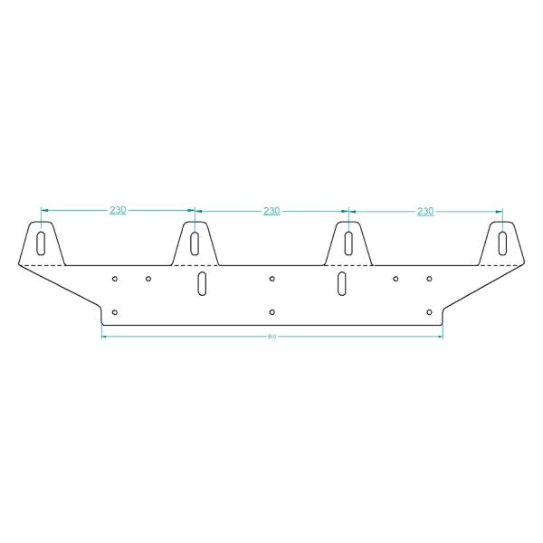 Extraljushållare Rak 5mm, 4st extraljus (max 225 mm)