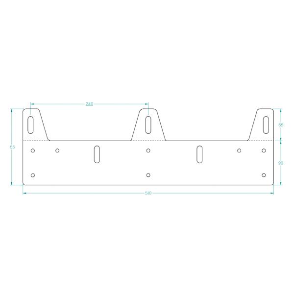 Lisävaloteline, kolmelle lisävalolle (Max 230 mm)